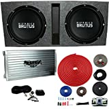 Hifonics BRZ15D4 Vented Bass Package - 2) 15' Subwoofers, 2 Ch. Amp, Box & Wire