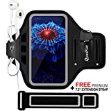 "Sports Armbands for iPhone 8 Plus 7 Plus 6/6s Plus, Galaxy S8/S7 Plus Edge Note 8, Fitness Running Workout Gym Jogging Case Holder Arm Band with Extension Strap, Fits 5.5"" to 6.2"" Cell Phones"