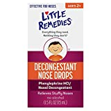 Little Remedies Decongestant Nose Drops | 0.5 oz | Pack of 4 | Relieves Stuffy Noses | for Ages 2+ | Packaging May Vary