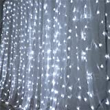 Efavormart 20 ft x 10 ft LED Lights Organza Backdrop Curtain Photography Background Organza Fabric Photo Studio Background - White