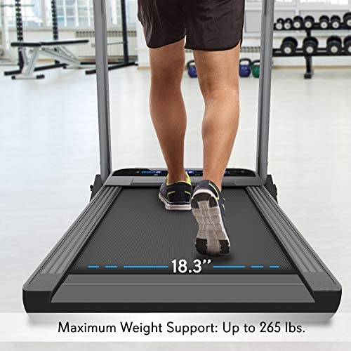 SereneLife Folding Digital Display Electric Treadmill – Fitness Training Cardio Equipment for Home Workouts, Jogging, Walking Exercise – Compact Minimal Profile Running Belt 8