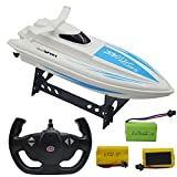 Blomiky F3 11.5' High Speed RC Boat for Lake and Pool Extra 2 Battery F3 Ship Blue