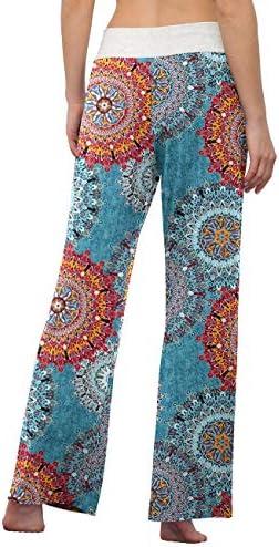 LONGYUAN Women's Comfy Pajama Pants Casual Yoga Pants Drawstring Palazzo Lounge Pants Wide Leg for All Seasons 3
