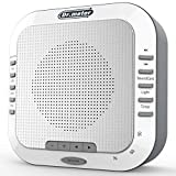 White Noise Machine, Dr.meter Sleep Sound Machine with White Noise, Rain, Lullaby, Ocean, and Brook 5 Natural and Soothing Sounds and Night Light for Baby, Light Sleepers and Meditators