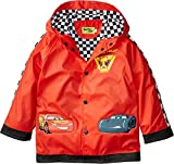 Western Chief Kids Disney Character lined Rain Jacket, Lightning McQueen, 4T