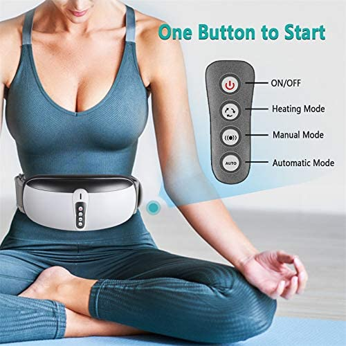 Rilassa Wireless Slimming Belt, Electric Abdominal Massager Portable Weight Loss Machine with 4 Vibration Massage Modes& Heating, Fat Burning Movement Improve Blood Flow For Women & Men 7