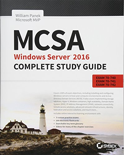 MCSA Windows Server 2016 Complete Study Guide, 2nd Edition Front Cover