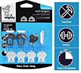 HIGH & MIGHTY 515314 Tool Free Picture Hanging Kit, 8 Pieces, 20-40LB Limit, Silver