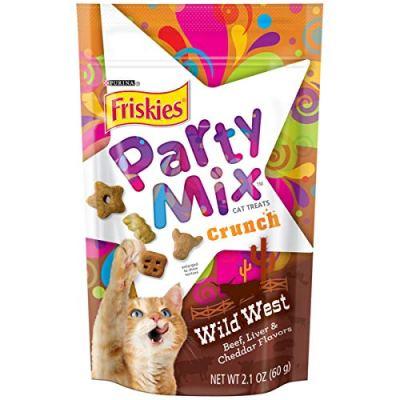 Purina Friskies Party Mix Adult Cat Treats - (10) 2.1 oz. Pouches
