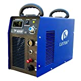 Lotos Technology LTP6000 60Amp Non-Touch Pilot Arc Plasma Cutter, Blue, 3/4' Inch Clean Cut