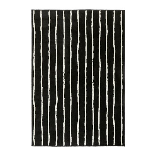 Ikea Rug, low pile, black/white 4 ' 4 'x6 ' 5 ' 1228.8226.1834