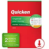 Quicken Starter 2019 Personal Finance & Budgeting Software [PC/Mac Download] 1-Year Membership + 2 Bonus Months [Amazon Exclusive]