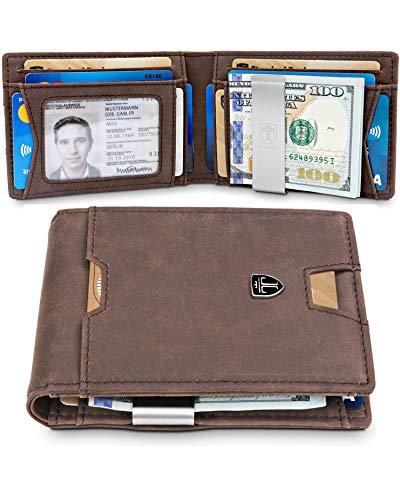 TRAVANDO Slim Wallet with Money Clip RFID Blocking Wallet AUSTIN Credit Card Holder | Travel Wallet | Minimalist Mini Wallet Bifold for Men Mens Mans Gift Box