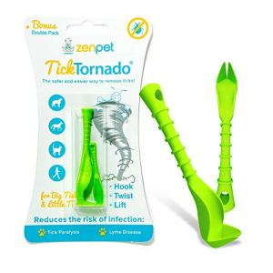 Tick Tornado ZenPet Tick Remover for Dogs & Cats & People - Value Pack - Easy and Fast Tick Removal Tool 10