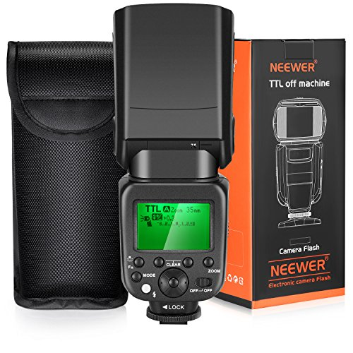 Neewer 2.4G Wireless 1/8000s HSS TTL Master/Slave Flash Speedlite Kit