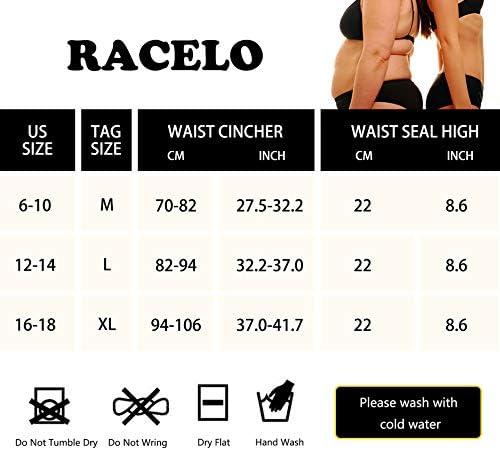 RACELO 3 in 1 Sauna Waist Trainer Butt Lifter Thigh Trimmer Sweat Body Shaper Exercise for Women Workout Weight Loss 6