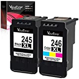 Valuetoner Remanufactured Ink Cartridge Replacement for Canon PG-245XL CL-246XL PG-243 CL-244 to use with Pixma MX492 MX490 MG2420 MG2520 MG2522 MG2920 MG2922 MG3022 MG3029 iP2820(1 Black,1 Tri-Color)