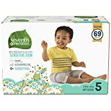 Seventh Generation Baby Diapers for Sensitive Skin, Animal Prints, Size 5, 69 Count