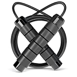 OMID Adjustable Jump Rope, Skipping Rope Tangle-Free with Carrying Pouch for Men Women Children, Jumping Rope for Aerobic Exercise Like Speed Training, Endurance Training