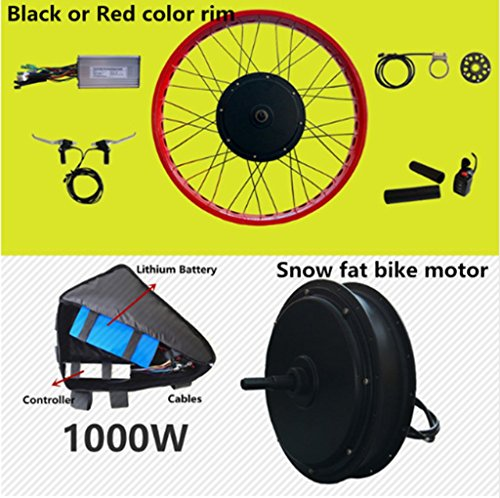 Front or rear motor 65km/h max snow ebike kit 48v 1500w Ebike fat tire wheel conversion kit with Lithium battery pack