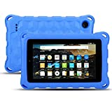 Amazon Kindle Fire 7 Case-Dinines Lightweight Shockproof Protective Cover Case for Fire 7 inch Tablet (Compatible with 9th Generation 2019/ 5th Generation 2015 / 7th Generation 2017) (Blue)
