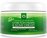 Stretch Mark & Scar Cream - Formula for Scar Removal & Prevention for Men & Women - Natural & Organic Moisturizing Body Cream Treatment - Great for Before & After Pregnancy - InstaNatural – 4 OZ