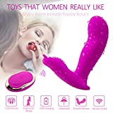 Wireless Remote Massager,10 Silent Vibration Modes and Skin-Friendly Silicone, USB Rechargeable Massager - Waterproof