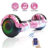 FLYING-ANT Hoverboard UL 2272 Certified 6.5' Two-Wheel Self Balancing Electric Scooter with LED Light Flash Lights Wheels Pink (free carry bag)