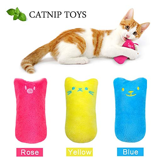 AINOLWAY-Interactive-Cat-Catnip-Toys-Funny-for-Kitten-Kitty-Cat-Kicker-Teething-Chew-Playing-3-Pcs