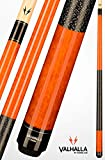 Viking Valhalla 2 Piece Pool Cue Stick with Irish Linen Wrap VA119 (21oz, Autumn Orange)