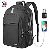 Business Laptop Backpack, Extra Large TSA Friendly Durable Anti-Theft Travel Backpack with USB Charging Port, Water Resistant College School Computer Bag for Women & Men Fits 15.6' Laptop