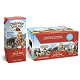 Organic Valley, Whole Milk Boxes, Shelf Stable Milk, Healthy Snacks, 6.75oz (Pack of 12)