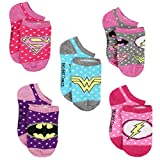 Justice League Girls Multi Pack Socks (4-6 Toddler (Shoe: 7-10), Justice League 5 pk)