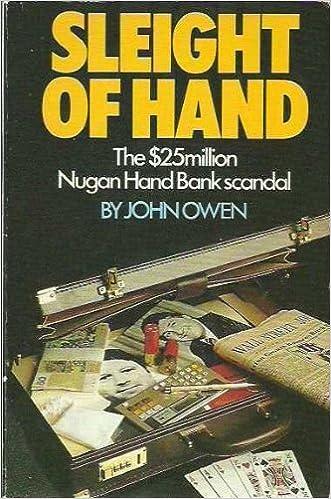 Sleight of hand: The $25 million Nugan Hand Bank scandal: Owen, John:  9780863990236: Amazon.com: Books