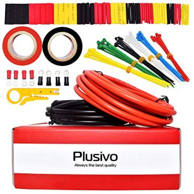 12-Gauge-Silicone-Wire-Kit-10-ft-Red-and-10-ft-Black-Flexible-12-AWG-Stranded-Tinned-Copper-Wire-with-Silicone-Rubber-Insulation-with-Electric-Tapes-Ring-Connectors-Wire-Stripper-from-Plusivo