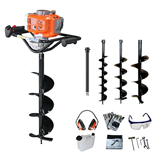 """PROYAMA 54CC 2 Stroke Post Hole Digger One Man Auger (4"""", 6"""" and 8"""") + Extention"""