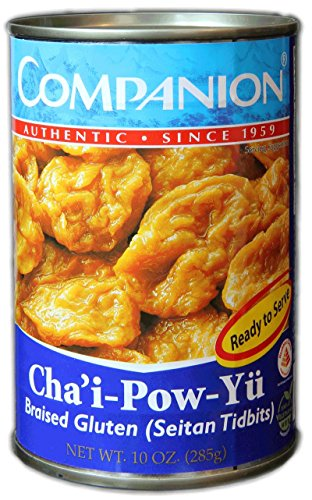 Companion - Braised Gluten Seitan Tidbits, 10 oz. Can (Pack of 6)