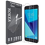 [2 Pack] Samsung Galaxy J3 Emerge Screen Protector, NOKEA Superior Protection Coverage Ultra-Thin Toughened Shatterproof [Tempered Glass] Screen Protector [Life-Time Warranty]