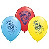 "Pioneer National Latex Superman 6 Count 12"" Latex Balloons, Assorted"