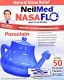 NeilMed Nasaflo Porcelain Neti Pot, 50 Count