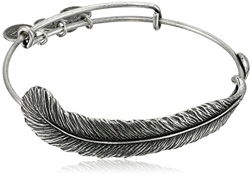 Alex and Ani Earth Sultry 'Plume Feather' Bangle Bracelet, 7.75'