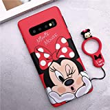 Mouse Case, Samsung Galaxy S10 Cute Cartoon Minnie Mouse Matte Protective Shockproof Case Cover with Ring Holder for Samsung (Minnie Mouse, for Samsung Galaxy S10)