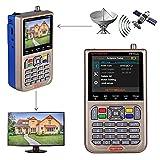 GT MEDIA V8 Satellite Finder Signal Meter Upgraded TV DVB-S2/S2X Receiver Sat Detector, HD 1080P Free to Air FTA 3.5' LCD Built-in 3000mAh Battery for Adjusting Sat Dish