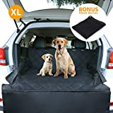 CCJK Pet Cargo Cover & Liner Dog, Waterproof Machine Washable & Nonslip Backing Free Pet Barrier Universal Fit Cars SUV Trucks,Underside Grip,Durable,Large Back Seat Cover Protector(Black,XL)