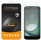 [2-Pack] Supershieldz for Moto Z Play/Moto Z Play Droid Tempered Glass Screen Protector, Anti-Scratch, Anti-Fingerprint, Bubble Free, Lifetime Replacement