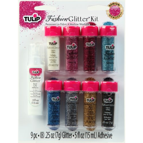 Tulip Fashion Fabric Glitter, 9-Pack