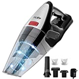 Holife Handheld Vacuum Cordless Ergonomic, 8000PA Suction Wet Dry Vacuum 22.2V Lithium Rechargeable Battery Hand Vac for Home Pet Hair Car Cleaning