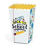 Big Dot of Happiness Back to School - First Day of School Classroom Decorations and Favor Popcorn Treat Boxes - Set of 12