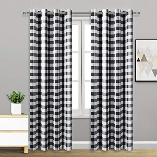Hiasan Buffalo Plaid Curtains