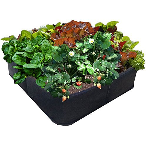 "EZ-GRO GARDEN 3 ft X 3 ft Raised Bed MED SQUARE AeroFlow Proprietary Fabric ""GROW YOUR OWN"" No Assembly by Victory 8"